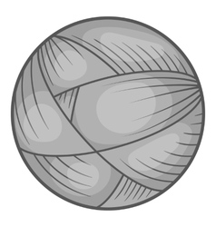 Ball of yarn icon black monochrome style vector