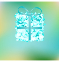 Blue gift box on abstract christmas  eps8 vector
