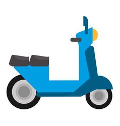 scooter transport vintage vector image