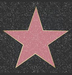 Walk of fame star vector