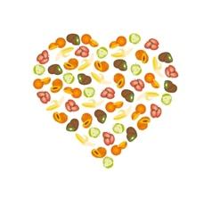 fruits in heart vector image