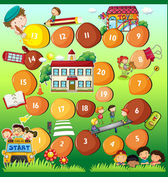 Board game theme for children vector