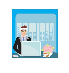 Cartoon office vector
