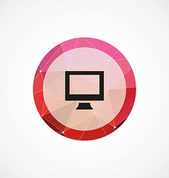 Pc circle pink triangle background icon vector
