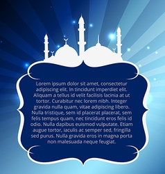 Muslim mosque design vector
