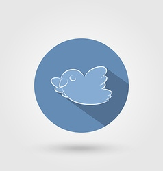 Bird icon with shadow vector