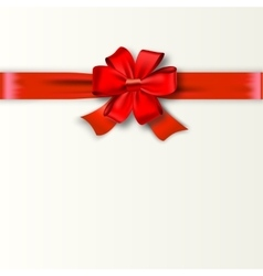 Gift Card Design with red Bow vector image
