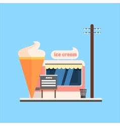 Ice cream shop front vector