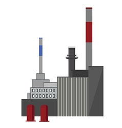 Industrial building factory vector