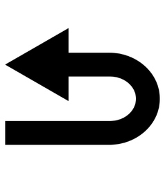 Turn left flat icon vector