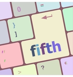 Fifth button on computer pc keyboard key vector