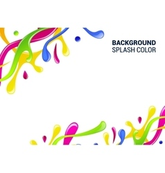 Splash background cover template drop vector