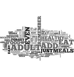 Adult add eat to live text word cloud concept vector