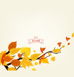 An autumn design vector
