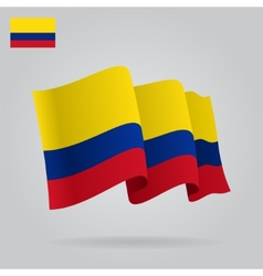 Background with waving colombian flag vector