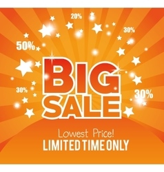 Big sale limted time only gold glossy vector