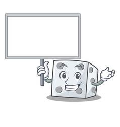 Bring board dice character cartoon style vector