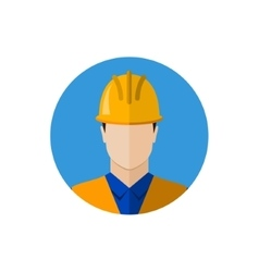Builder construction worker icon vector image vector image