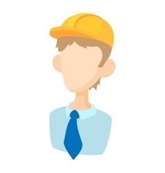 Builder icon in cartoon style vector
