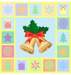 christmas theme symbols vector image