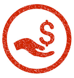 Donation rounded grainy icon vector