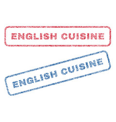 english cuisine textile stamps vector image