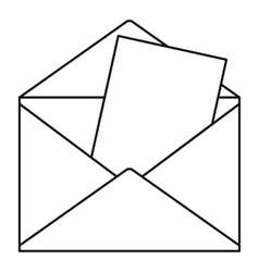 Envelope icon outline style vector image