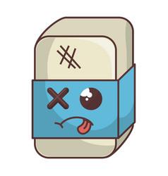Eraser school comic character vector