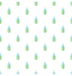 Eye drops bottle pattern cartoon style vector