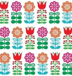 Finnish inspired seamless folk art pattern vector