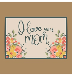 Floral mathers day card vector