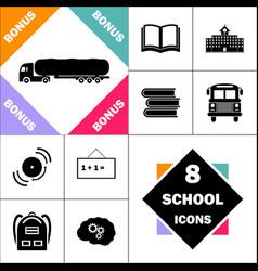 fuel truck computer symbol vector image vector image