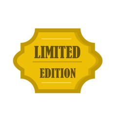 Golden limited edition label icon flat style vector