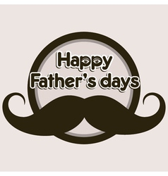 happy fathers day greeting background vector image vector image