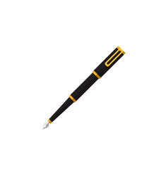 Isolated writing tool flat icon nib pen vector