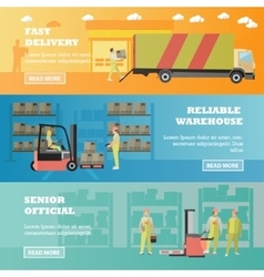 Logistic and delivery service concept banner vector image vector image