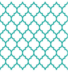 Moroccan tiles design seamless turqoise pattern vector