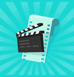 Movie or online cinema concept vector