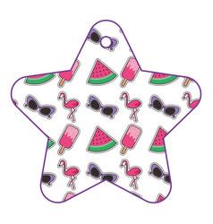 patches in star pattern fashion decoration vector image