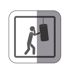 Person practicing boxing icon vector