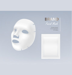realistic of white facial mask vector image