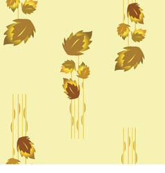 seamless autumn leaves vector image