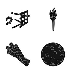 Space training and or web icon in black style vector