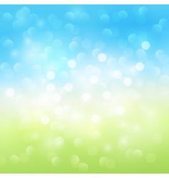 Summer bokeh light background vector image vector image