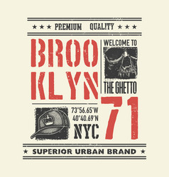 Vintage urban typography with skull vector