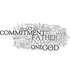 What is commitment text word cloud concept vector