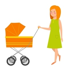 Young mother character vector