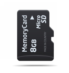Micro sd memory card vector