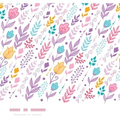 Tulip field flowers horizontal seamless pattern vector