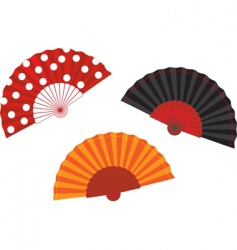 Set spanish fan illustration vector